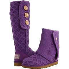 Uggs purple lattice cardy boots /want in charcoal for those days it's so cold that my feet need a sweater