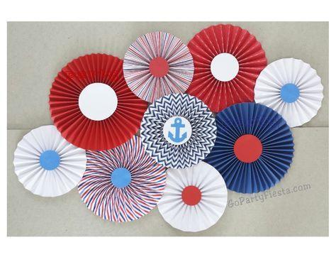 Nautical Sailor Paper Fan