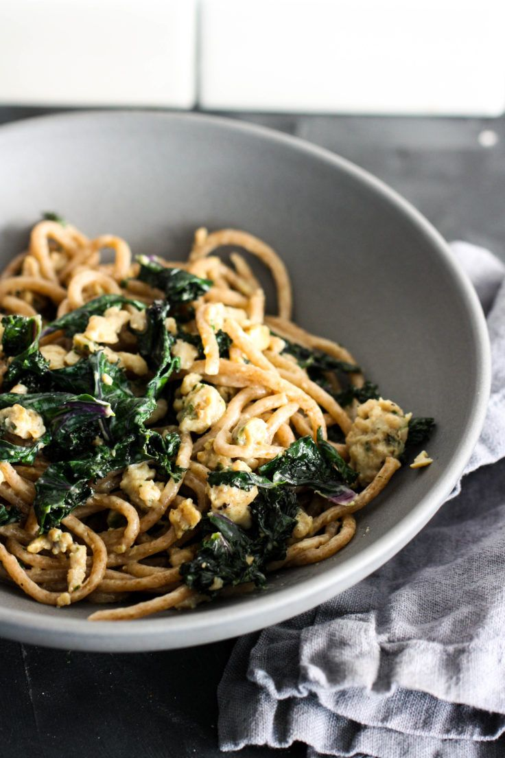 Whole Wheat Spaghetti with Sausage and Kale