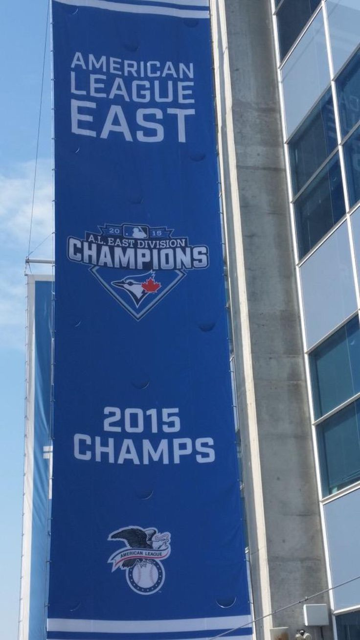 Toronto Blue Jays are the American League East champions of 2015. MLB. Baseball.