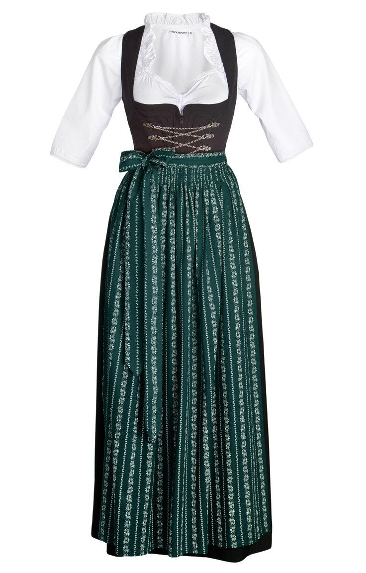 Oktoberfest DIRNDL SET 3pc. Amber/SC190forest green