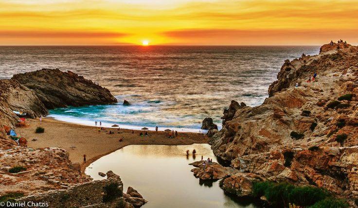 sunset at Nas beach