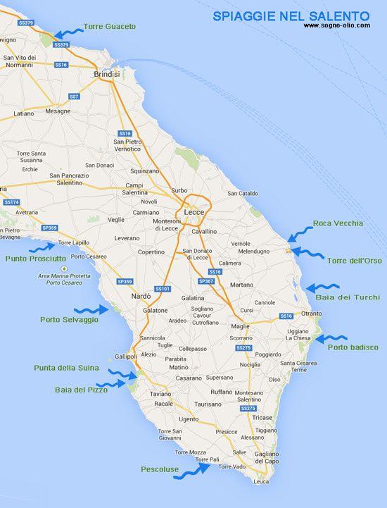 De top 1O mooiste stranden in Zuid Puglia, Salento.