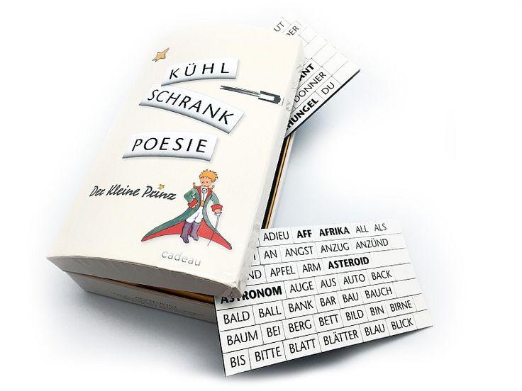 """Produktinformation Kühlschrank-Poesie – """"Der kleine Prinz""""  ein poetisches Geschenk für alle Anlässe 500 Wort- und Buchstabenmagnete für den Kühlschrank oder die Tafel für..."""