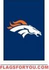 "Broncos Mini Flag 15"" x 10 1/2"""