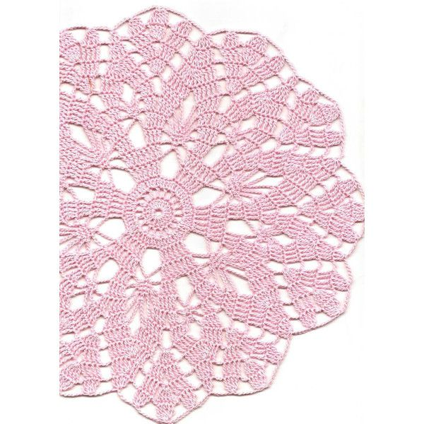 Vintage Handmade Crochet Doily Lace Lacy Doilies Wedding Decoration... ❤ liked on Polyvore featuring home, home decor, handmade doilies, colored doilies, crochet lace doilies, crochet doilies and pineapple centerpiece