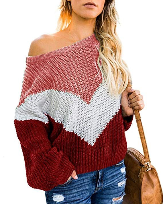 9e2305fec2c992 The Pullover Sweaters for Women Feature Slouchy Off the Shoulder ...