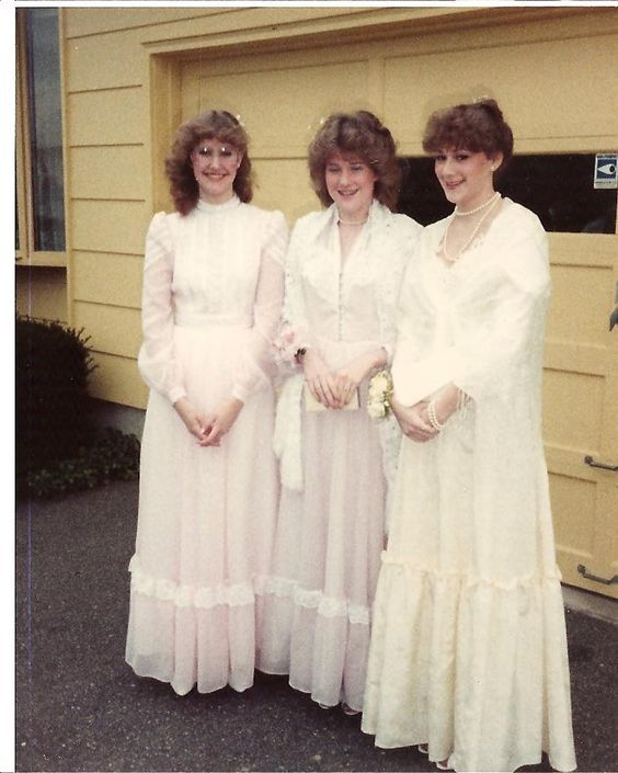 """A Gunne Sax Prom: back in the late 70s and early 80s the prairie look was """"in"""" because of the show Little House of the Prairie. It is a cute look."""