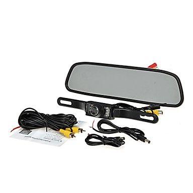 """4.3 """"TFT LCD monitor autó hátsó rendszer biztonsági reverse kamera kit éjjellátó – EUR € 29.99"""