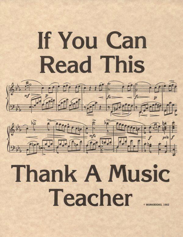 Thank your music teacher
