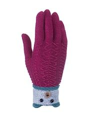 Перчатки детские Cascatto  Вязаные перчатки из качественной пряжи с высоким содержанием шерсти. Они очень мягкиехорошо тянутся и прекрасно сохраняют тепло. Манжет на двойной резинке обеспечивает хорошую фиксацию перчатки на руке. Декорированы украшением из бусинок.. Перчатки детские Cascatto промокоды купоны акции.