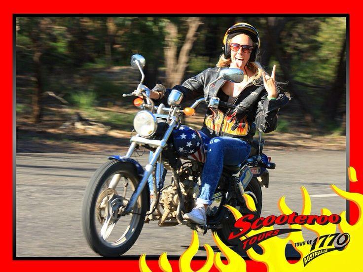 Bucket List - TICK ✔️ Ride a motorbike  #scooteroo #australia #biker