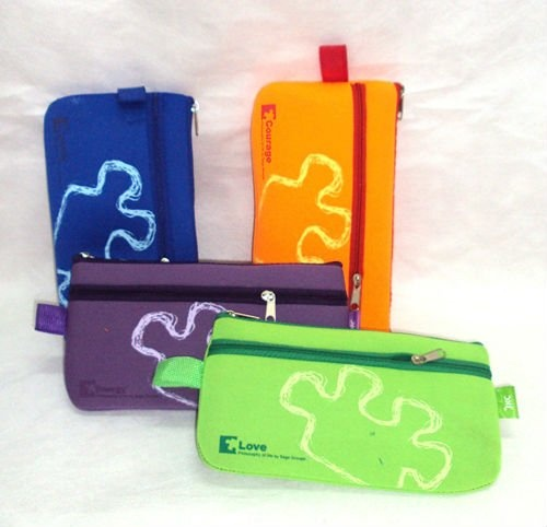 These are neoprene pencil cases and cost .45 - .51 min order 3000
