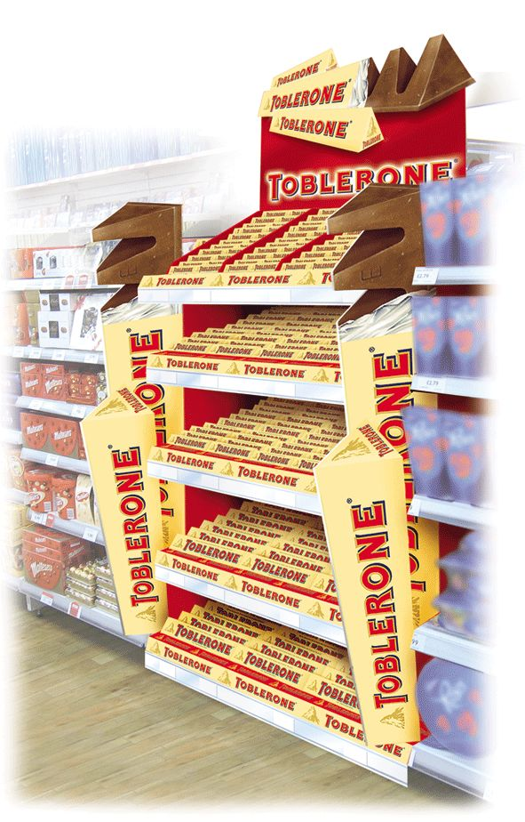 Retail Point of Purchase Design | POP Design | Kraft - Toblerone Gondola Run Hot Spot (Design Activity)