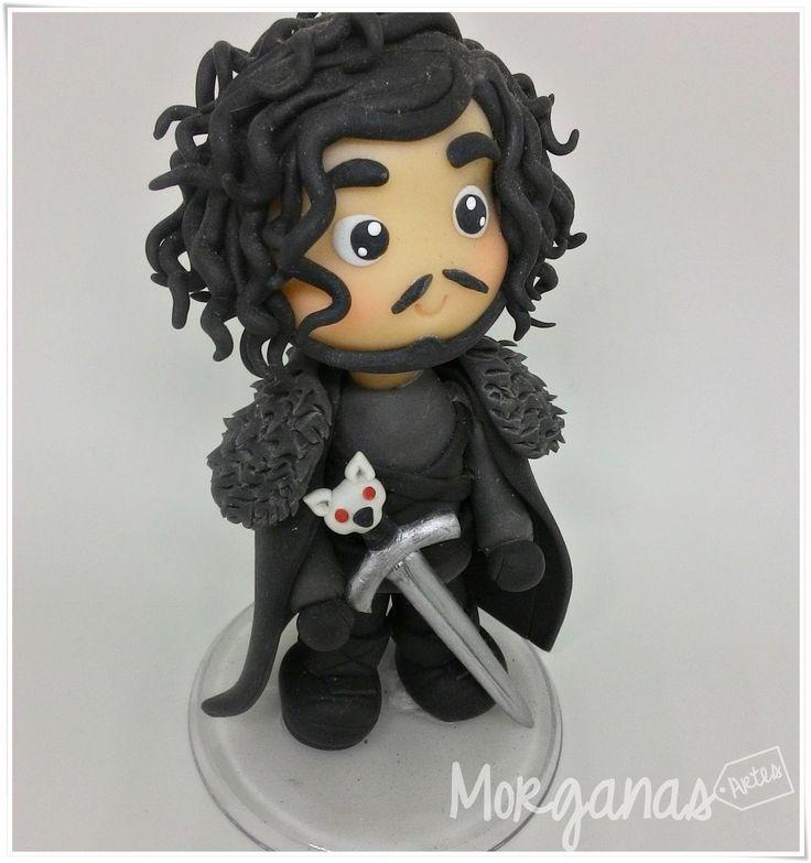 Game of Thrones - Jon Snow Orçamentos: E-mail: andreiamorganas@gmail.com www.morganas.com.br Whatsapp: (85) 997667885 #mashaeourso #topodebolo #aniversárioinfantil
