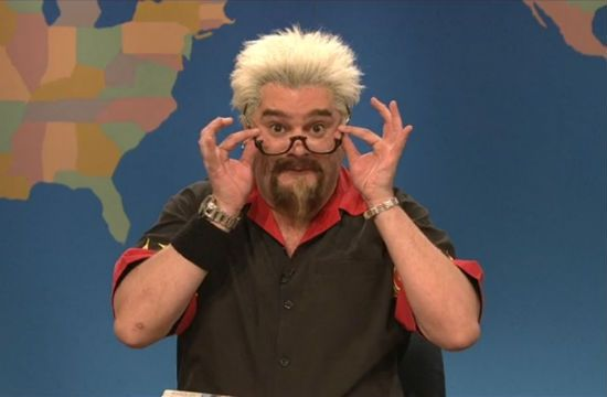 Guy Fieri Tells The New York Times To 'Le Cirque My Le Dirque' on Saturday Night Live