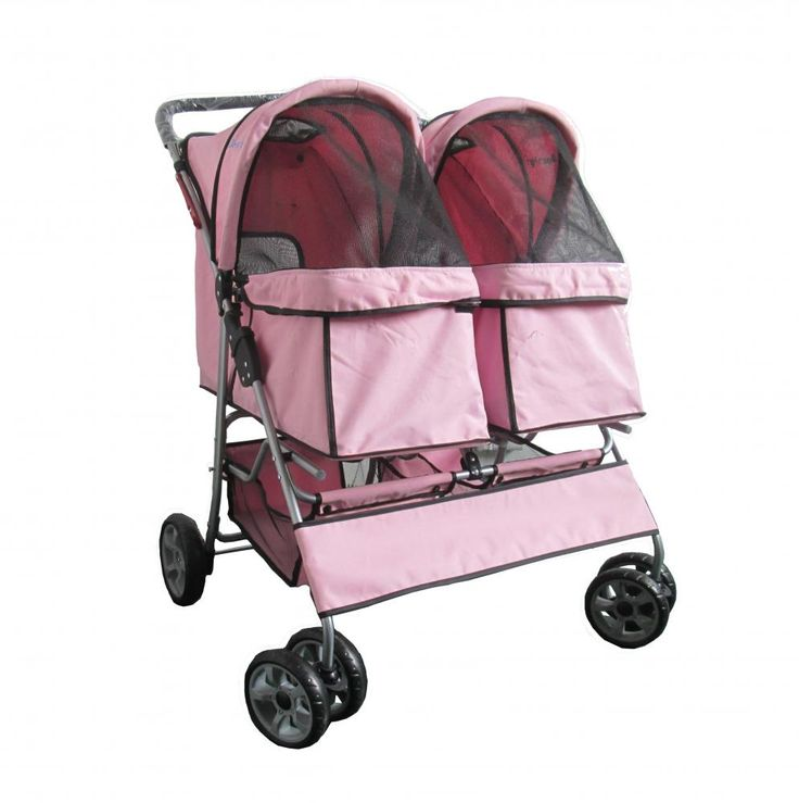 Double Pet Stroller For Dogs