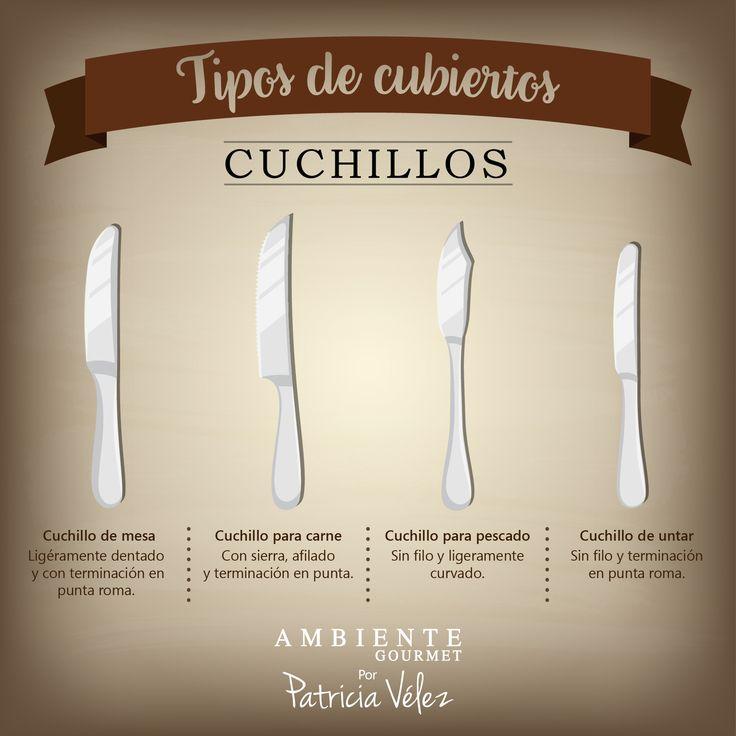 Existen diferentes tipos de cubiertos, dales el uso adecuado.