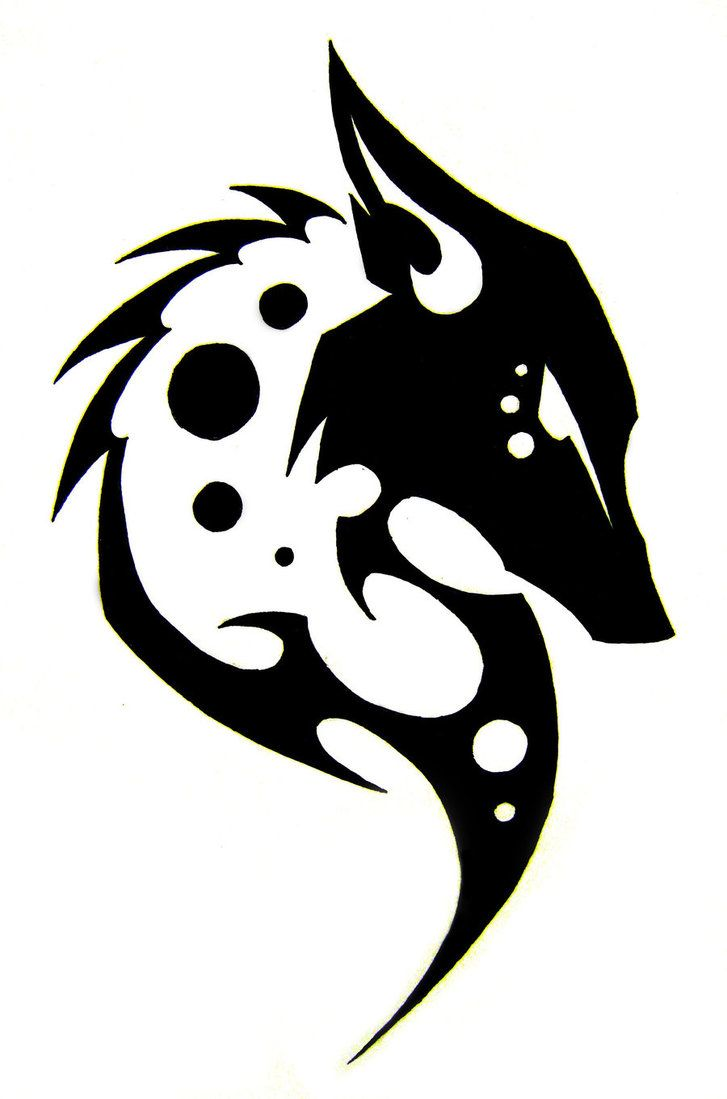 tribal fox head tattoo by Akeleu-Wolf on deviantART