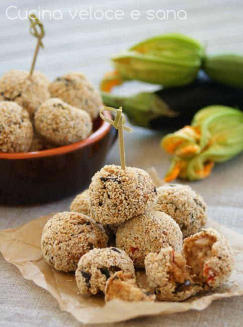 Crocchette di couscous con melanzane e zucchine | Cucina veloce e sana