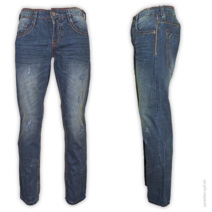 Timezone  Jeans Man AL GMT  Schöne Vintage Jeans mit Kontrastnähten und Destroyed-Effekten.      5-Pocket Des...