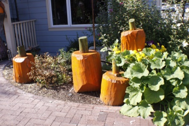 wood pumpkins