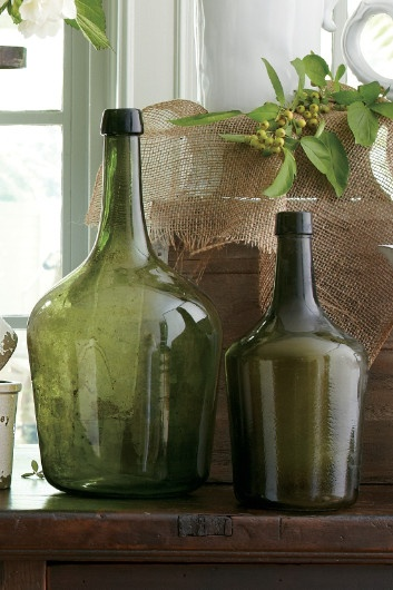 Bordeaux Glass Bottle - Bordeaux Bottles, Vintage French Bottles + olive bottles + design