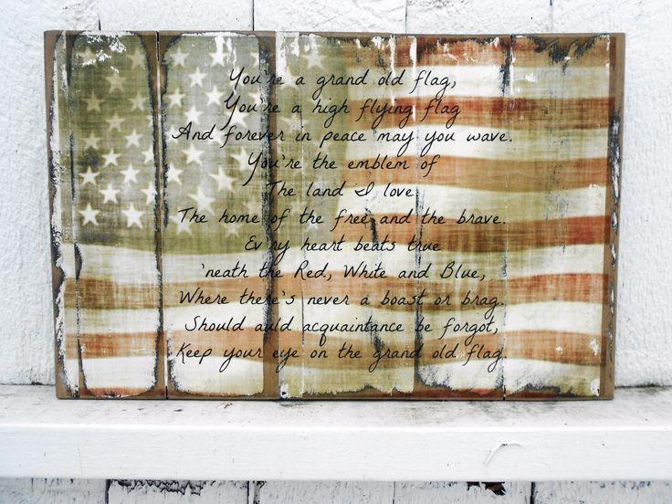 Bandiera americana Pallet segno di 904HENRY su Etsy, $31.99