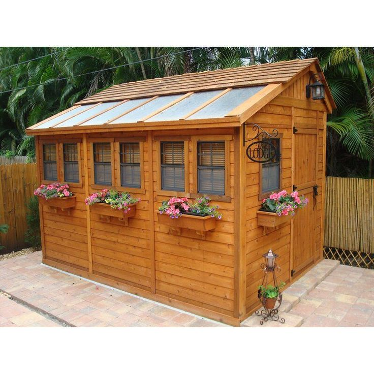 Outdoor Living Today Sunshed 9 ft. W x 12 ft. D Solid Wood ... on Outdoor Living Today Sunshed id=38554