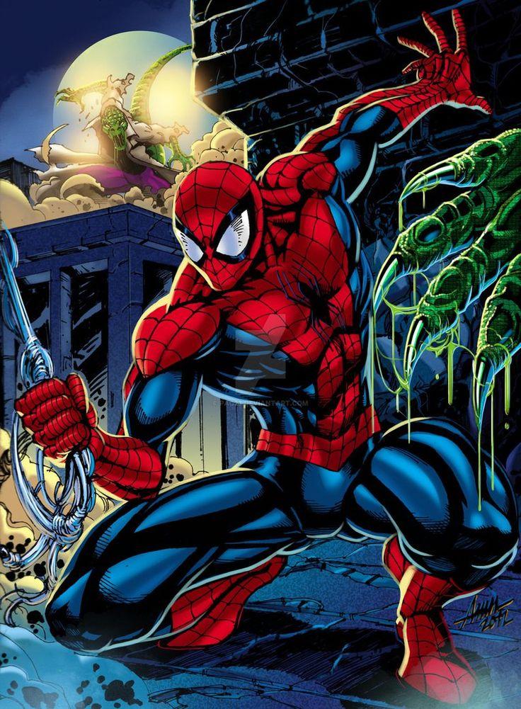 #Spiderman #Fan #Art. (Spider-Man V Lizards) By:PAC23. (THE * 5 * STÅR * ÅWARD * OF: * AW YEAH, IT'S MAJOR ÅWESOMENESS!!!™)[THANK Ü 4 PINNING!!!<·><]<©>ÅÅÅ+(OB4E)   https://s-media-cache-ak0.pinimg.com/564x/3c/49/52/3c4952611414b1abaee8d70dd7d70975.jpg