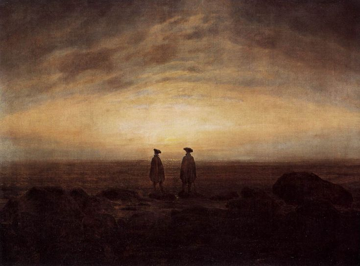 """Two Men By The Sea"" - Caspar David Freidrich"