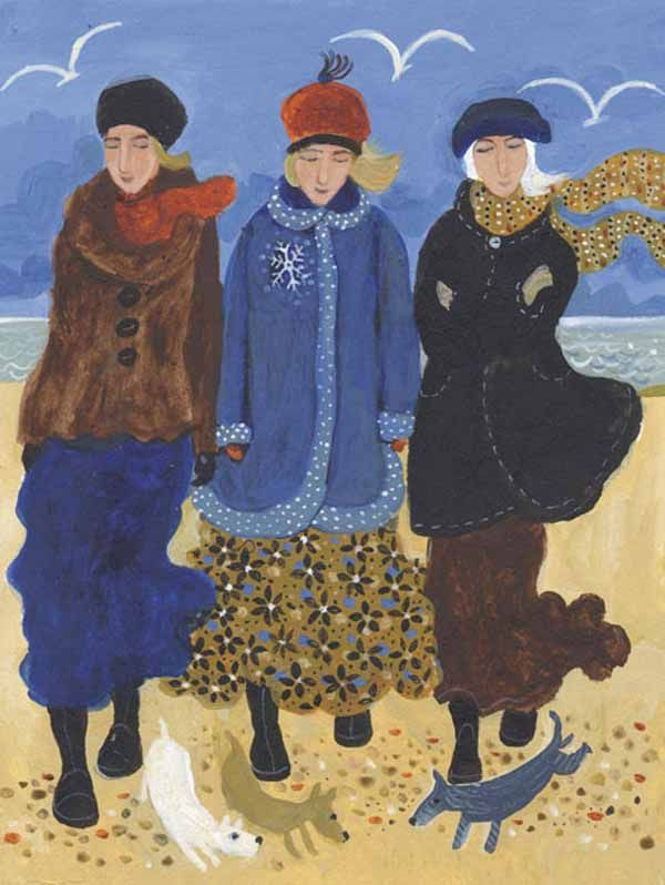 Dee Nickerson. Wintery Walks With Dogs