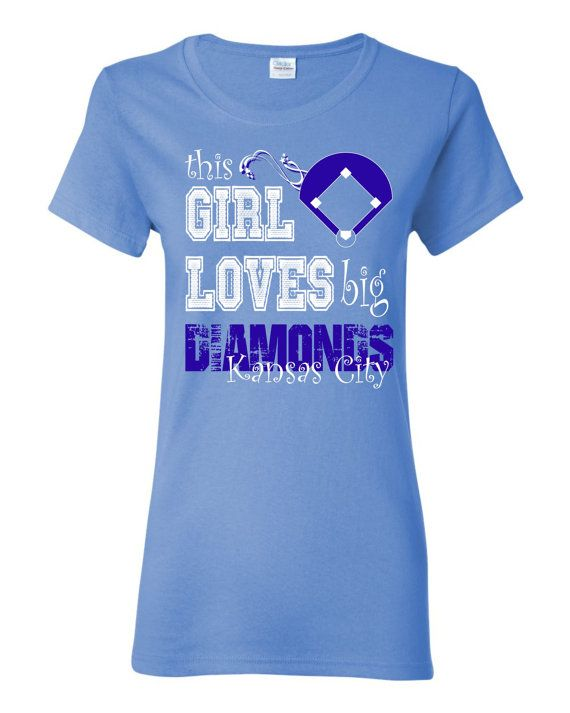 This girl loves big diamonds kansas city custom t shirt for Custom shirts kansas city