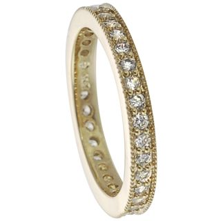 Tressa Sterling Silver White Cubic Zirconia Vintage Eternity Ring | Overstock.com Shopping - Big Discounts on Tressa Cubic Zirconia Rings