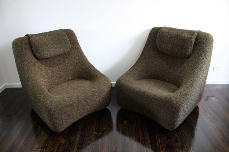 Grant Featherston Numero Mid Century Modular Lounge Chairs