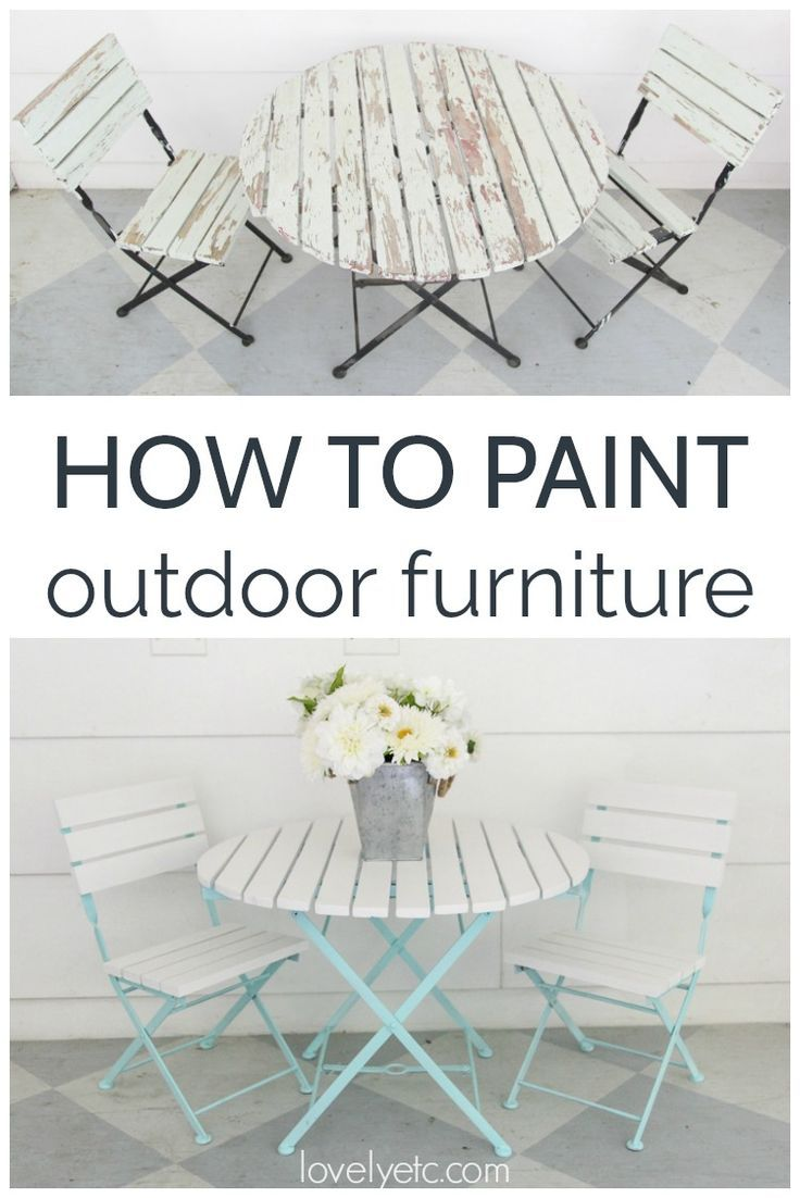 How To Paint Outdoor Furniture Like A Pro Painted Outdoor Furniture Wood Patio Furniture Outdoor Wood Furniture
