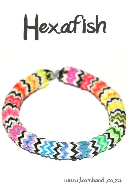Hexafish loom band bracelet tutorial, instructions and videos on hundreds of loom band designs, Leading online Loom band supplies in SA, Next day delivery
