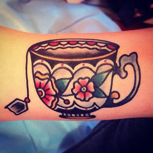 teacup traditional #tattoos