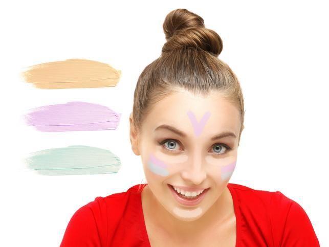 Correctores de colores para disimular imperfecciones en el rostro.