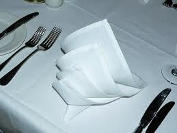 Mooi gevouwen servetten horen bij een lunch of diner en maken het net ietsje meer af.   Gebruik hiervoor altijd een goed gestreken en stevig servet. Je kunt hiervoor ook dikke papieren servetten gebruiken. Let er wel op dat de servetten mooi vierkant zijn. ( zo'n 40 x 40 cm of 50 x 50 cm  ) Mooi