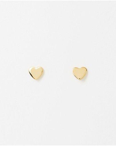 Orelia London - Flat Heart Earrings 2 Pack