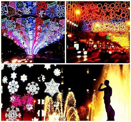 The Barcelona Christmas lights are on! Check them out. #Navidad #Barcelona #winter