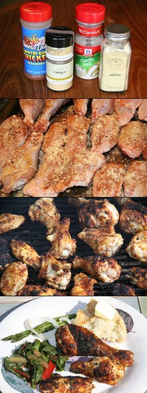 Finger Lickin' Grilled Dry Rub Chicken Recipe.•Chicken wings and legs •Famous Dave's Country Roast Seasoning •Garlic Salt •Ground Mustard •Ground Ginger For added zip, you could add cayenne and chili powders