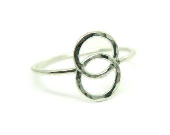 Sterling zilveren gewei ring van Wulfcub op Etsy