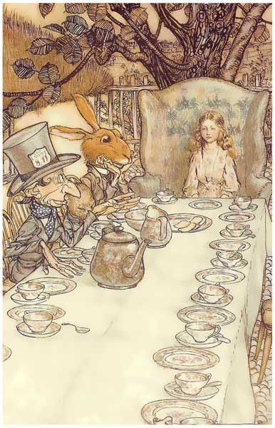Alice in Wonderland Tea Party Arthur Rackham Art 11x17 Poster