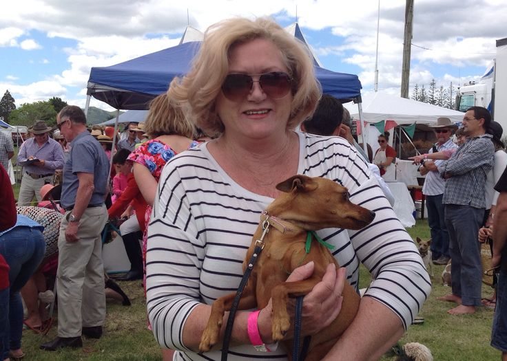 Trish Girling-Butcher at Terrier Racing 2014. Fritz was entered but didn't catch on!