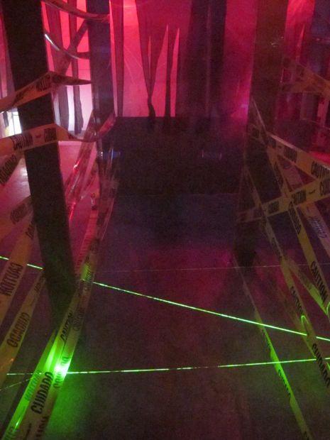 Lazer Maze -- Halloween Haunted House