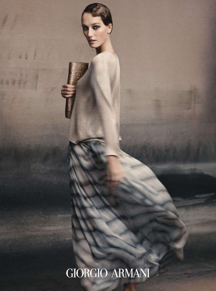Ad Campaign: Giorgio Armani Spring/Summer 2015: Joséphine Le Tutour by Solve Sundsbo