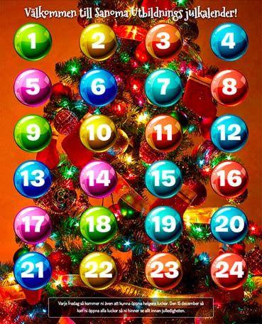 Julkalender med uppgifter att lösa