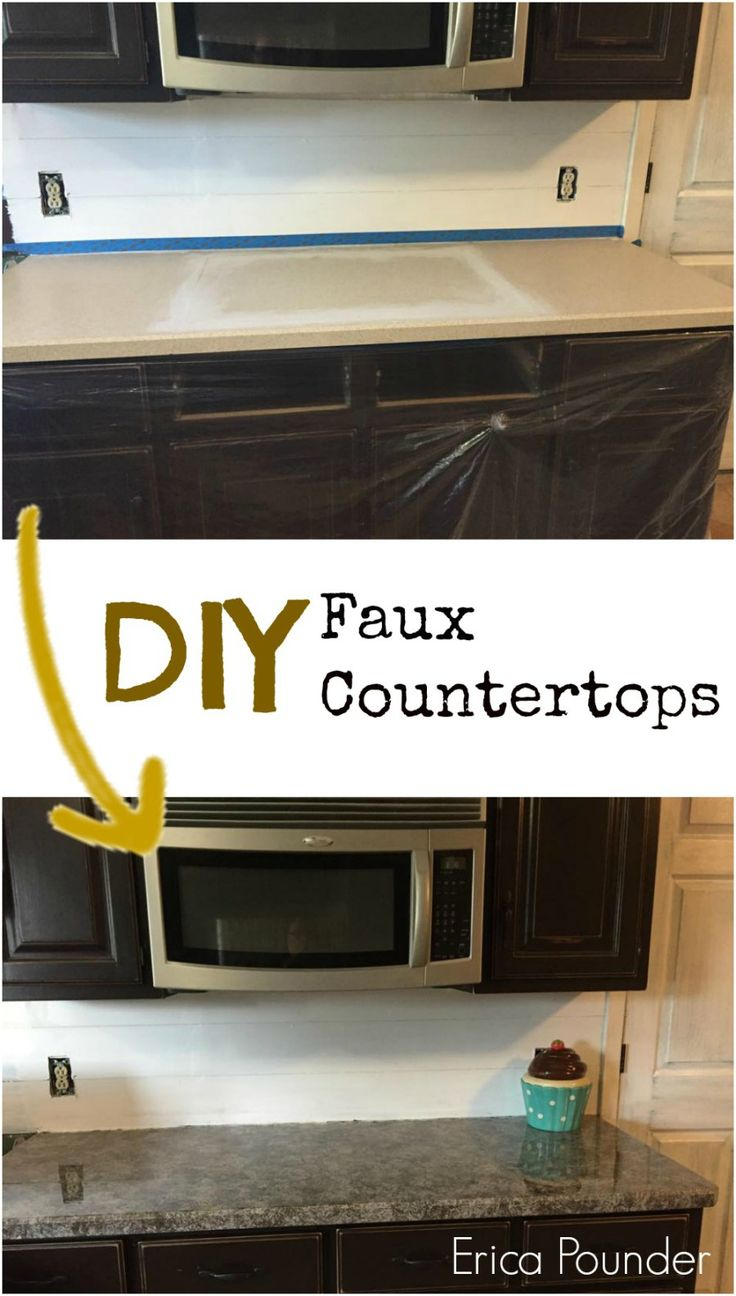How To Paint Kitchen Countertops And Get The Faux Marble Effect Design Love And Love Painting